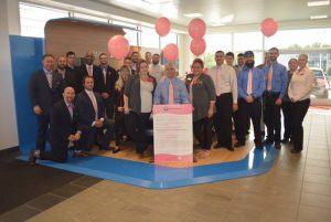 BMW of Warwick donated $50 for every vehicle sold in October in support of the Gloria Gemma Breast Cancer Research Foundation.